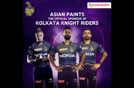 Asian Paints Announces Sponsorship with Kolkata Knight Riders for Vivo Indian Premier League (IPL)
