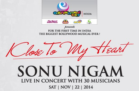 'Klose to my Heart' by Sonu Nigam to go live in Noida tomorrow