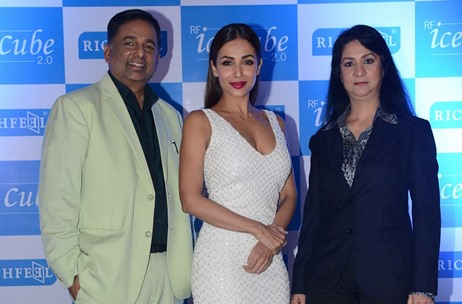 Malaika Arora Launches Ice Cube 2.0 for RichFeel at Taj Lands End, Mumbai
