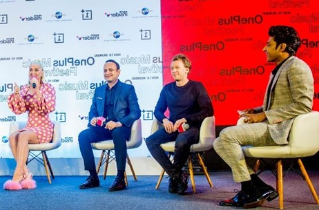 Katy Perry At OnePlus Music Festival Press Conference, Moderated by Sachin Kumbhar