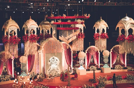 A Wedding Inspired by Royal Haveli Splendour at Dome, NSCI