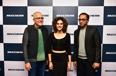 Taapsee Pannu Inaugurates Skechers 90th Store at Ambience Mall, Gurgaon