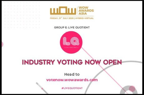 WOW Awards Asia Opens Industry Voting for the Nominations of LIVE Quotient by Expert Panel