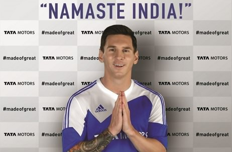 Wizcraft to roll-out on-ground activation with Messi for TATA Motors #madeofgreat campaign