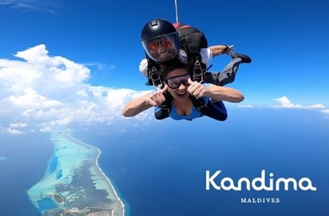 Maldivian Lifestyle Resort Kandima Maldives Launches Sky-diving Programme for Beginners and Pros