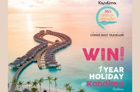 Kandima Maldives and Condé Nast Traveller Launch Contest; Winner Gets 1-Year Holiday at the Resort