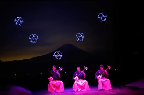 Watch: LED Lit Sky Magic Drones Perform a LIVE Ballet Show at Mt. Fuji; Produced by MicroAd