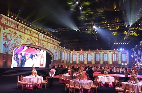 The Mammoth 3 Day Gvk Wedding Managed By Wed Gurus Magical Decor By