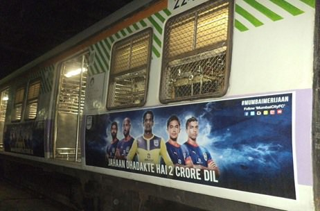 Mumbai City FC takes branding to Local Trains
