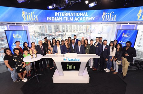 IIFA 2017 Kicks Off as Sonakshi Sinha and Sabbas Joseph Ring The Nasdaq Bell at Times Square