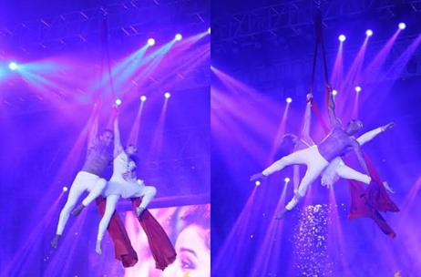 Delhi Wedding by Motwane Entertainment & Weddings sees sensational Aerial Duo Act by Natura!