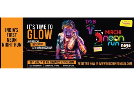 Radio Mirchi conducts India's first neon themed marathon