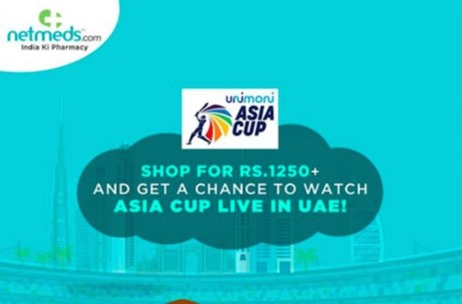 Netmeds Powers Asia Cup In Dubai