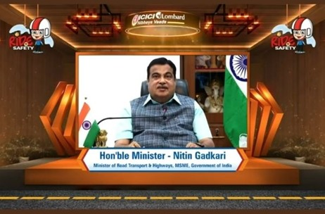 Minister Nitin Gadkari Releases ICICI Lombard's 'Ride to Safety' Anthem by Shankar Mahadevan