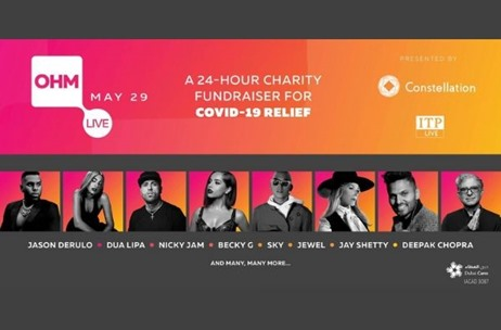 OHM Live, a 24 Hour Fundraiser Event for COVID-19 Relief Witnesses 12 Million Viewers Globally