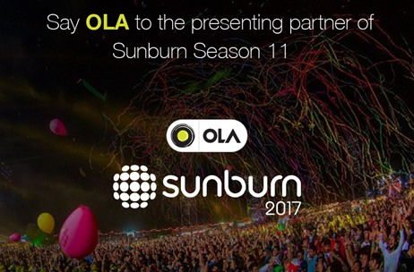 OLA to Drive Sunburn Season 11 As Presenting Partner