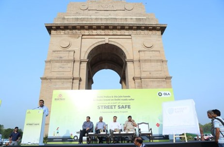 Ola Cabs Launches Ola Street Safe Campaign At India Gate