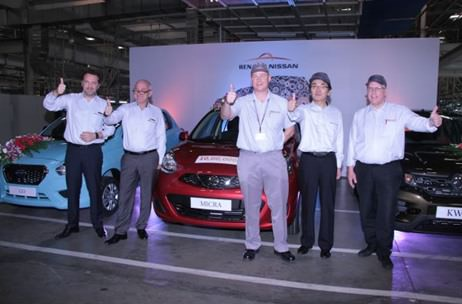 Nissan-Renault Rolls Out 1 Millionth Unit in India; Press Con by Encompass