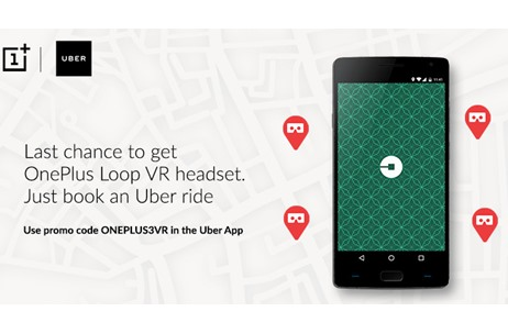OnePlus Partners Uber to Giveaway Loop VR Headsets On-Demand to Users in 8 Cities