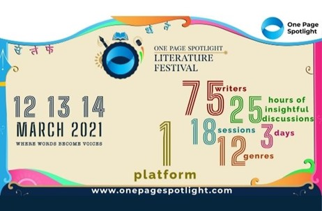 One Page Spotlight to Host First Edition of Virtual Spotlight Literature Fest from March 12 to 14