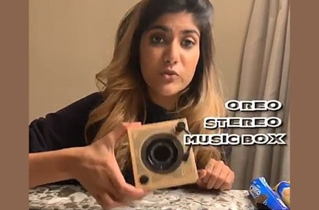 Influencer Ananya Birla Gets A Taste Of the Limited Edition Oreo Stereo Music Box