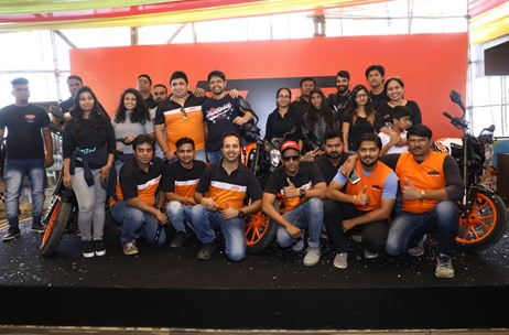 Percept ICE Organizes the 'KTM Orange Day' Bike Ride