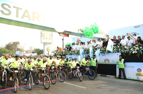 Over 6,000 Pedal on the Streets for Saksham Cyclothon Mumbai 2018 by Maximus