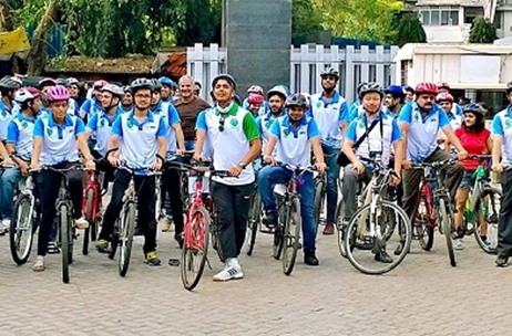Over 60 Cyclists Participate At The Smart Commute Foundation's Cycle2Work Initiative