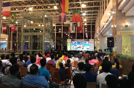 FIFA World Cup 2018 Match Official Live Screening Arranged By Mathrubhumi Group