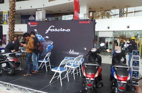 Inextis Events Take Yamaha Fascino on a Mall Tour of the Western Region