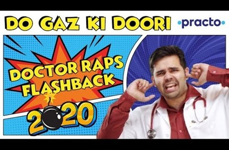 #Flashback2020: Doctor Turns Rapper for Practo's New Coronavirus Song Endorsing 'Do Gaz ki Doori'