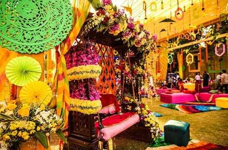 Q Events By Geeta Samuel Creates Super Colourful Jaipur Mehendi; Event Planned & Managed by VOWS