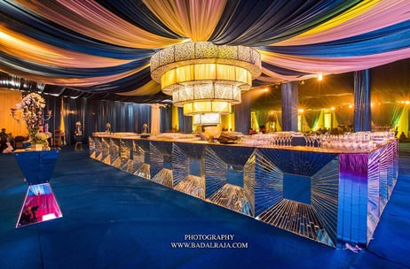 A Jaipur Blue Inspired 'Sheesh Mahal' Themed Sangeet by Rohit Bal Luxury Weddings