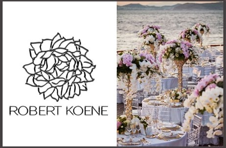 Robert Koene Floral Art Executes Beautiful Wedding Décor in Athens Riviera, Greece