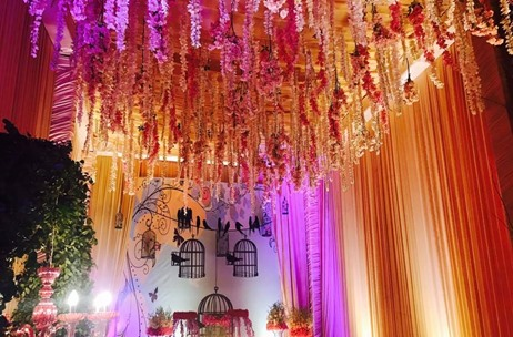 Maadhyam Events Creates a Floral Delight for Delhi Roka Ceremony