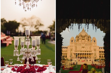 Umaid Bhawan Palace Wedding by Devika Narain & Co Sees Exquisite Decor & Unique Design Elements
