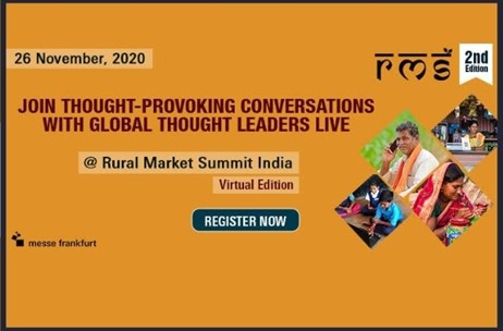Virtual Edition of Rural Market Summit India on Nov 26 to Decode Best Strategies in Rural Ecosystem