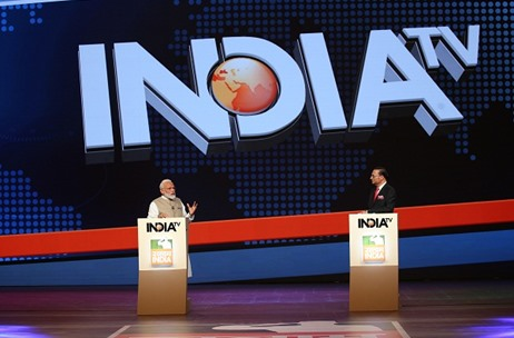 PM Narendra Modi and Anchor Rajat Sharma Come Together For India TV Salaam India Conclave