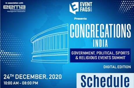 #CongregationsIndia: 40+ Speakers Include Ministers, Top Bureaucrats, Events Industry Leaders