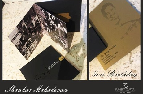 Puneet Gupta Invitations Designs Super Classy Invite for Shankar Mahadevan's 50th!