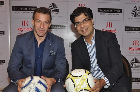 Alessandro Del Piero scores a goal for Merino Wool @ Shoppers Stop