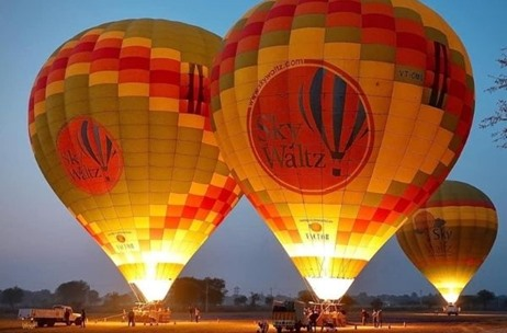 Skywaltz Gets Great Response to India's First Hot Air Balloon Wildlife Safari at Bandhavgarh in MP
