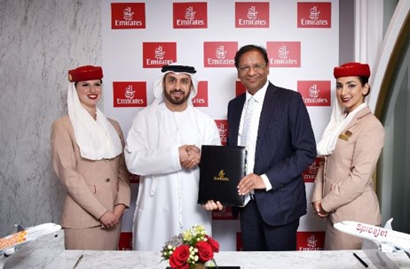 Emirates Signs a Codeshare and Interline Agreement With SpiceJet