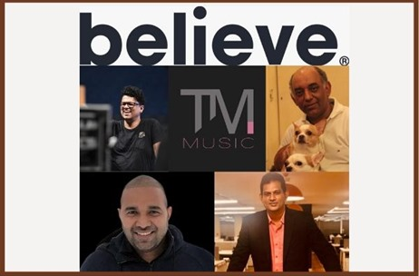 Believe Signs Music Distribution Deal with T M  Music - an Initiative by Tarsame Mittal