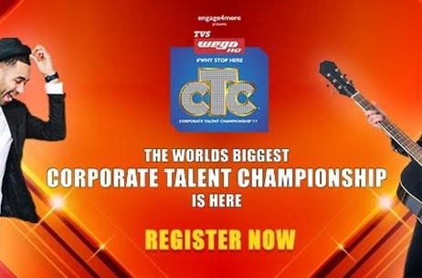 TVS Wego Bags Title Sponsorship of engage4more's 6th edition of Corporate Talent Championship