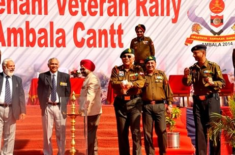 More than 10,000 veterans of the Indian Army meet at the Veer Senani Veteran Rally