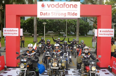 Vodafone Kicks Off Youth Bike Ride Across India to Experience Data Strong Network