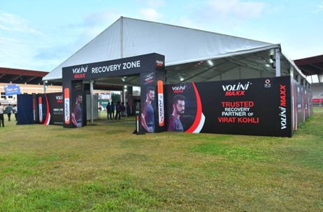 AVS India Curates Recovery Zone at Airtel Hyderabad Marathon 2019 for Volini Maxx