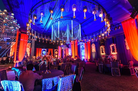 Regal Sangeet by VOWS At Taj Rambagh Palace Jaipur Sees Exquisite Decor by Q Events by Geeta Samuel