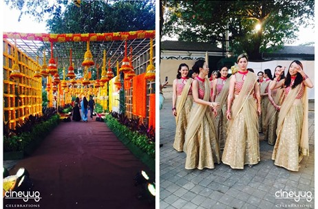 Cineyug Celebrations Creates The Temples of Vrindavan in Mumbai for Wedding at Turf Club!